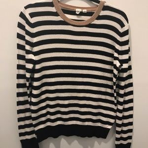 Black and white stripped Gap Shirt